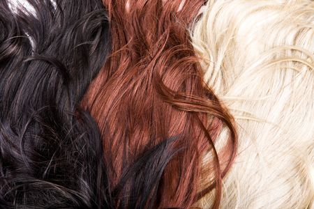 beau brillant de texture des cheveux sains