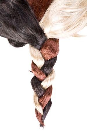 beautiful healthy shiny hair texture photo