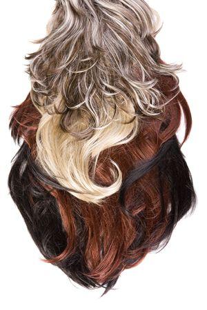 beautiful shiny healthy hair texture photo