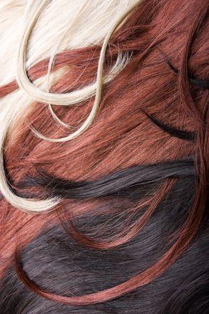 beau style sains brillant cheveux