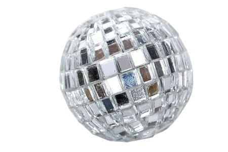 shiny silver glass disco ball photo