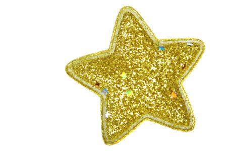 shiny decorative gold christmas star