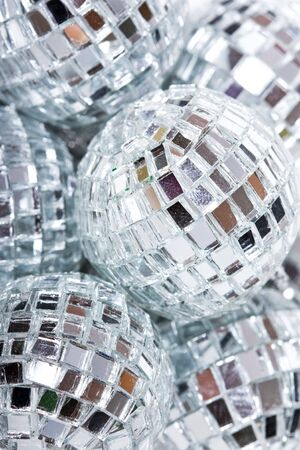 shiny silver glass disco ball photo