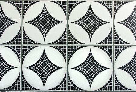 mosaic tile: mosaico bianco e nero sfondo  Archivio Fotografico