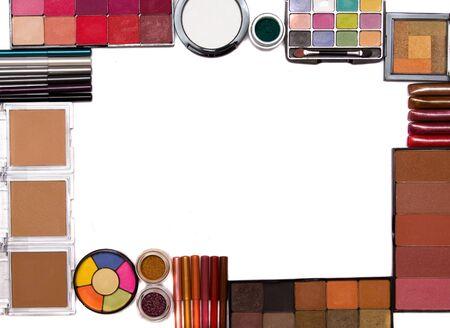 maquillage d�finie image sur fond blanc  Banque d'images