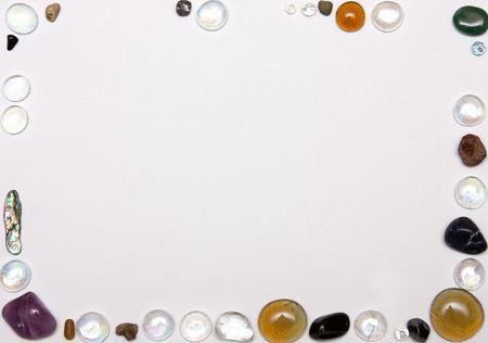 glass balls frame on white background Stock Photo - 5987762
