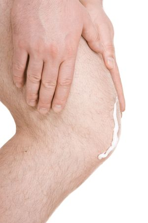 male knee on white background Stock Photo - 6726982