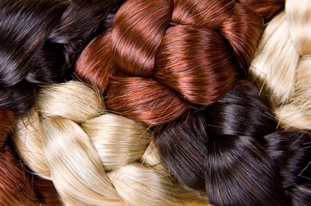 texture capelli: capelli bella lucido stile sano