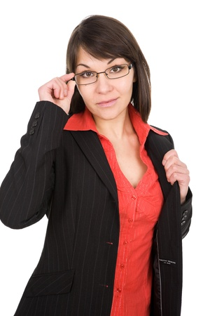 business woman on white background photo