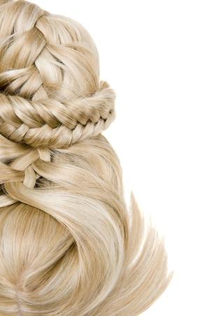 cheveux beau style sain brillantes