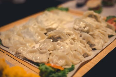 Fresh Dumpling after making ready to fry