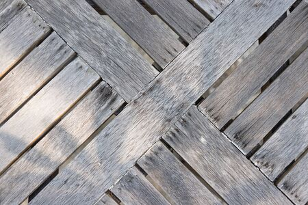 Wooden Diagonal pattern background, design was made from real bark, have some spot from nail and sun light shine on Standard-Bild - 134725964