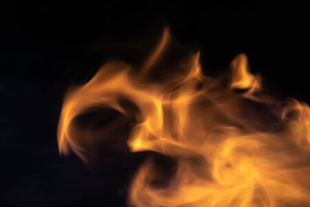 Soft blur flame with soft detail moving from right to the left on black background. For overlay effect