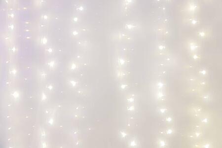 blur soft white led light on sew for background Archivio Fotografico - 134767456