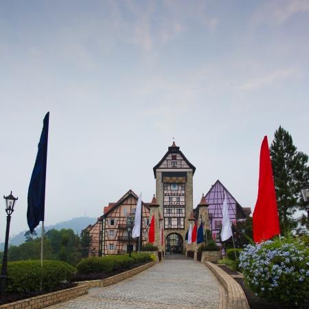 A replica of 18th century Colmar French Village in Alsace