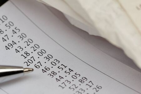 overdue: Bills, receipt or invoice. Concept of finance, financial planning,credit overdue,expenses.