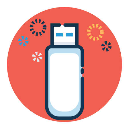 illustration vector graphic of flashdisk icon filled outline. suitable for icon, sticker, apps, etc.