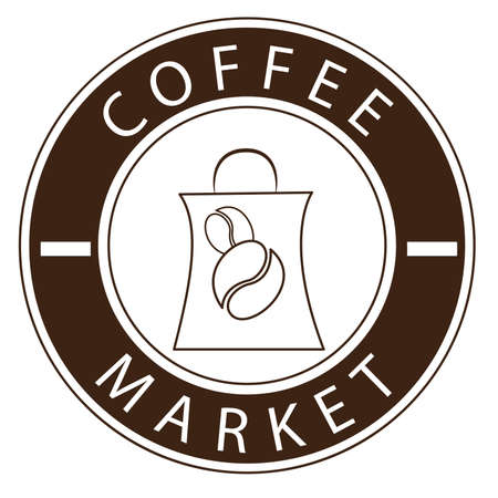 illustration vector graphic of coffee and paper bag. suitable for product, label product, coffee market sign, etc Vecteurs