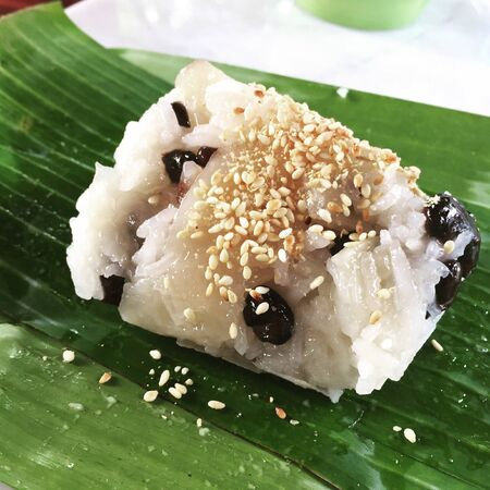 style: Khao-niew-kloy, wild jam sticky rice, Thai style dessert Stock Photo