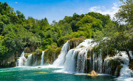 View of the waterfalls of the Krka National Park
