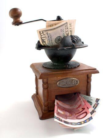 grind: handmill moler d�lares y gire a la euro