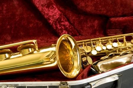 alto sax in the case photo