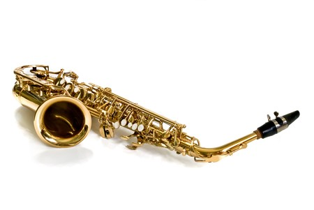 alto: alto sax against white background