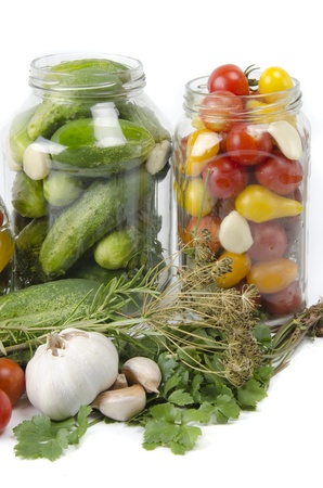 ingredients for preserving in bottles