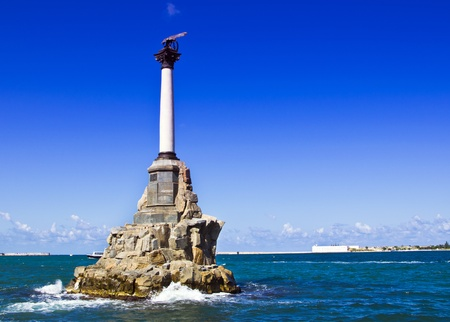 monument to sunken ships in Sevastopol Ukraine