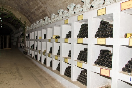 wine collection in tunnel of winnery Stock Photo - 11729168