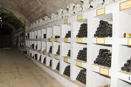 wine collection in tunnel of winnery Stock Photo - 11729175