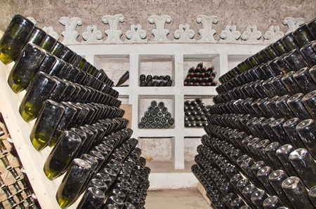 rack for classic champagne production photo