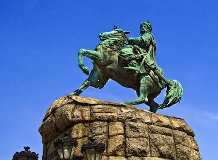 Bogdan Khmelnitsky monument in Kiev Stock Photo