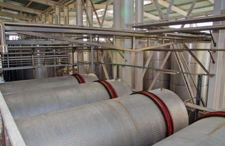 equipment for industrial production of wine in the factory photo
