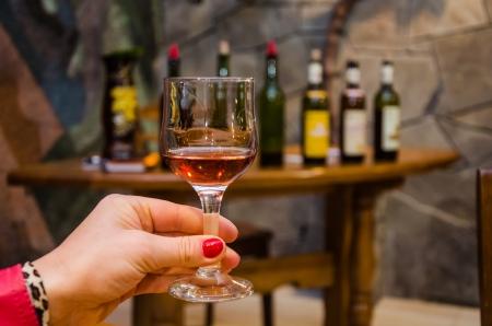wine testing: classic wine testing in winery