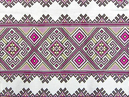 Russian geometric pattern on canvas photo