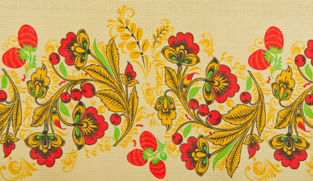folksy: Russian floral pattern on canvas