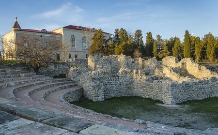 amphitheatre: ruins of ancient amphitheatre