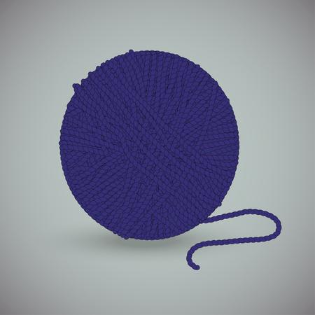 skein of woolen thread on gray background Иллюстрация