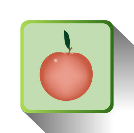 green icon of apple on white background Illustration