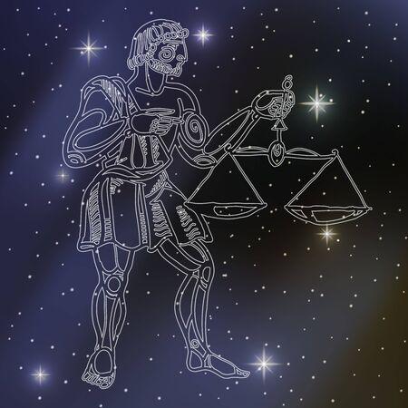 libra: libra, sign of the zodiac Illustration