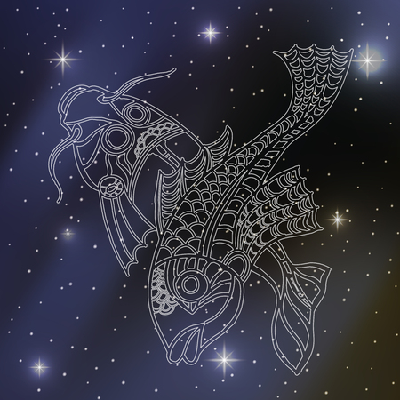 pisces: pisces, sign of the zodiac