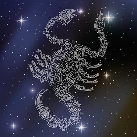 Scorpio, signe du zodiaque Banque d'images - 52246417