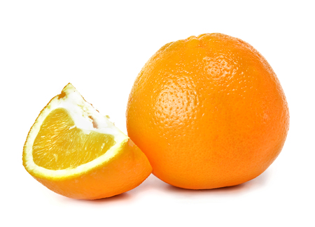 orange and segments against white background