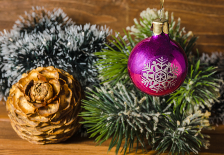 old fashioned christmas tree decorations stock photo 90096734