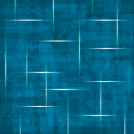 abstract background of transparent cube on blue