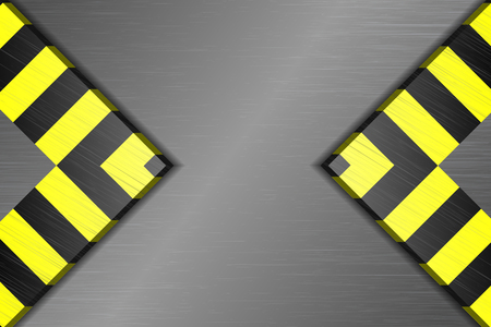 black stripes: Yellow and black stripes on the metal base Illustration