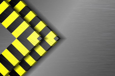 metal base: Yellow and black stripes on the metal base Illustration