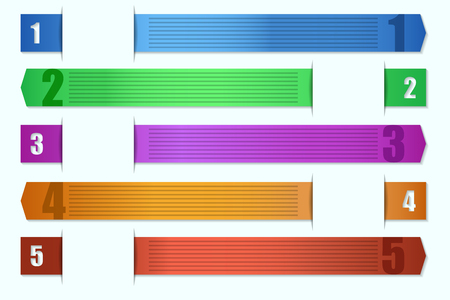 numbering: Color ribbons for text