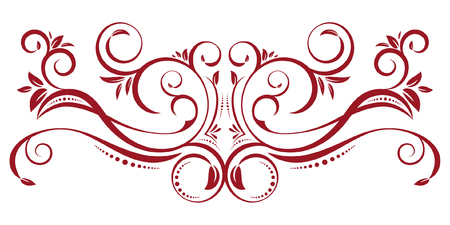 Red Vintage Border Ornament 일러스트
